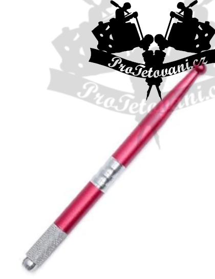 Manuální pero pro 3D permanentní make up Pinky red
