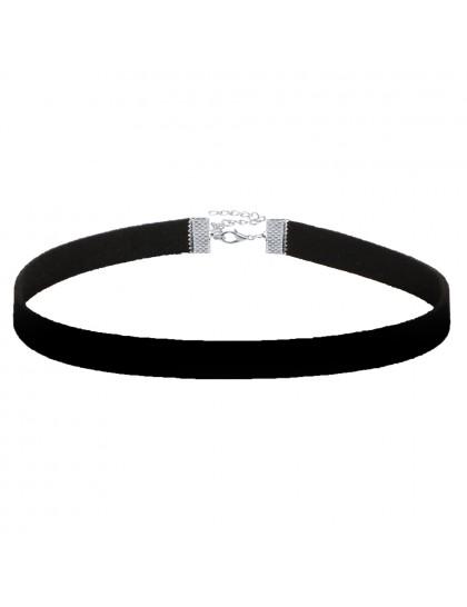 Náhrdelník Choker Black velvet silver