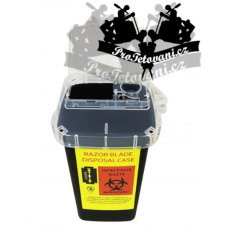 Container for tattoo and barber waste 1l Black