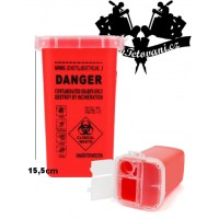 Tattoo waste container 1l red