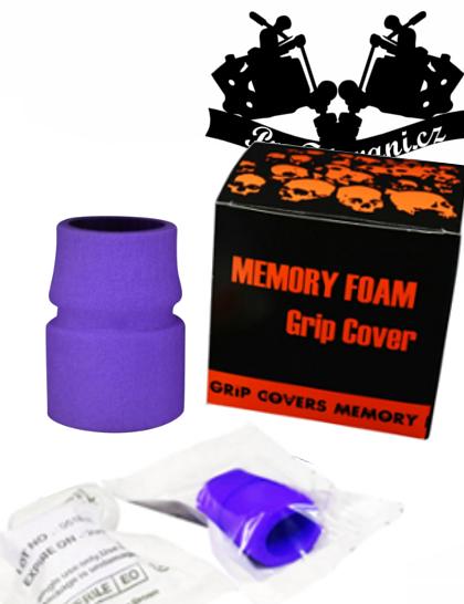 Návlek na tetovací grip z paměťovou pěnou Purple sterilní
