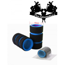 Tattoo grip cover with Ridges Blue memory foam