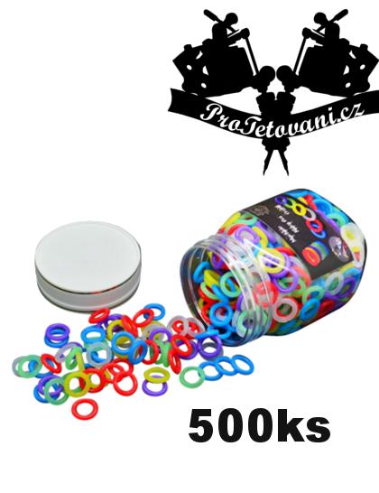 O-ring gumičky pro tetovací strojky 500Ks