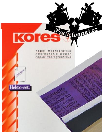 Obtiskovací papír pro přenos motivů Kores