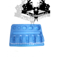 Storage pallet for tattoo cartridges and ink cups blue