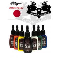 Original set of tattoo paint Kuro Sumi Master 7pcs 15 ml