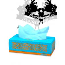Paper handkerchiefs for tattoos biodegradable BLUE