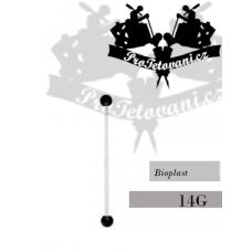 Navel piercing Bioplast bioflex BLACK