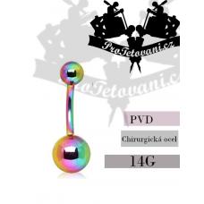 Navel piercing Rainbow Ball