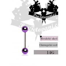 Piercing barbell Metalic Purple