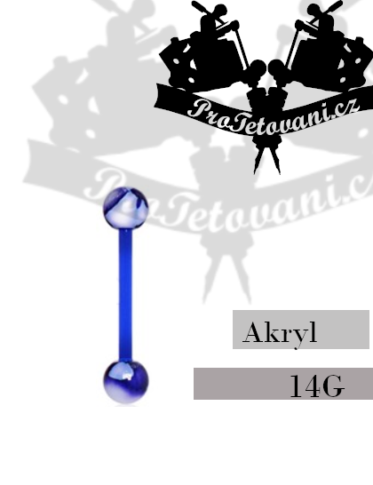 Činka akryl Marble Blue AB1