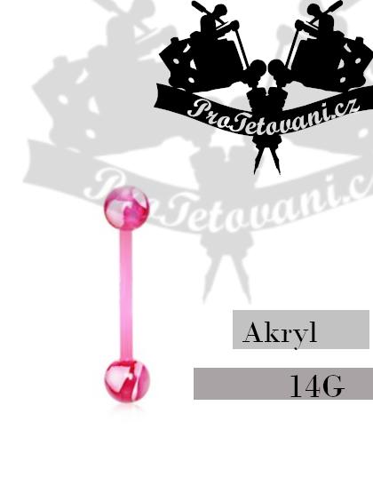 Činka akryl Marble Pink AP1