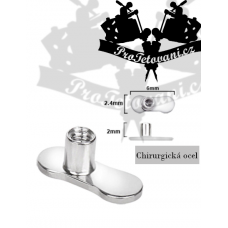 Anchor for microdermal piercing without holes