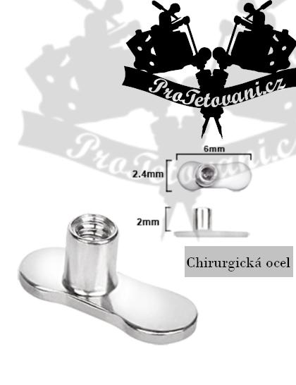 Kotva pro mikrodermální piercing bez děr