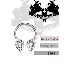 Horseshoe piercing Steel Silver