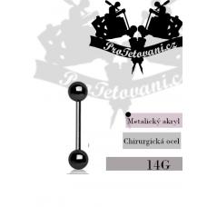 Piercing barbell Metalic Black