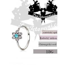 Piercing ring Blue Flower