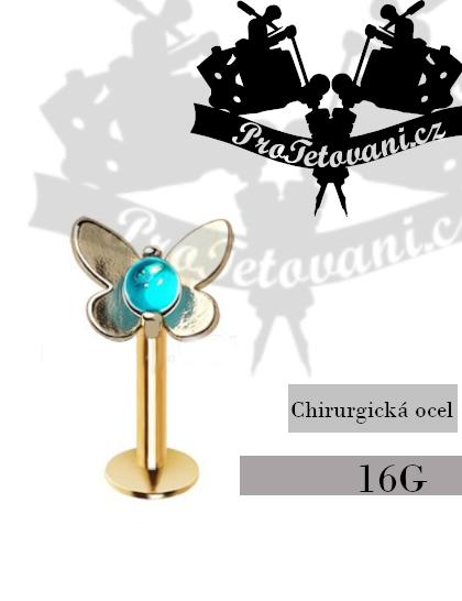 Piercing do rtu Labret Blue Butterfly