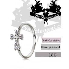 Cross piercing ring
