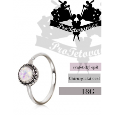 Piercing ring Opal Ornate
