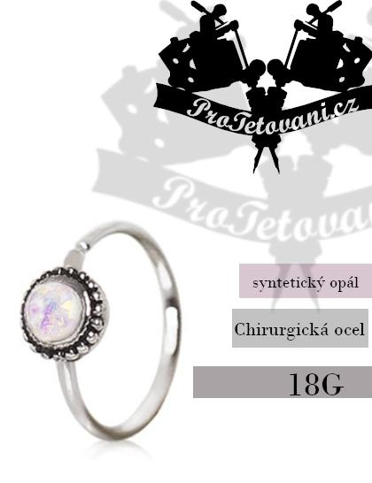Piercing kroužek Opal Ornate