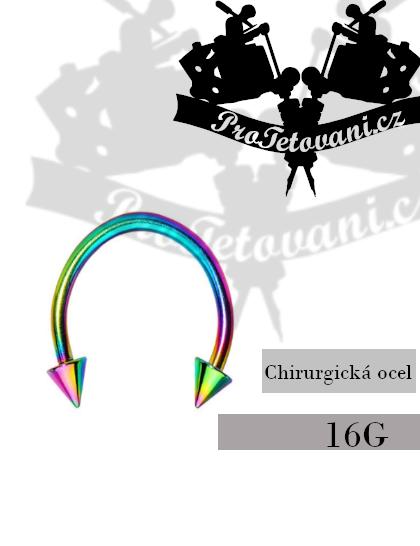 Piercing podkova Rainbow