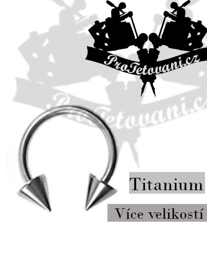 Piercing podkova Titanium Horseshoe