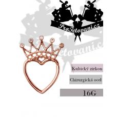 Piercing Septum Hearth Crown Rose Gold