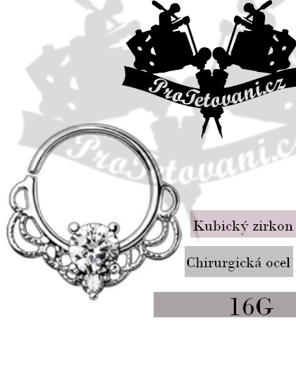 Piercing Septum kroužek Rich Royal Ornament