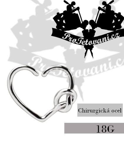 Piercing Silver Hearth do ucha