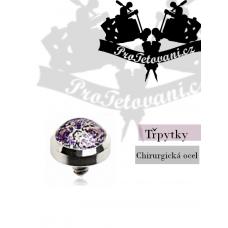 Jewelry for microdermal piercing Glitter purple