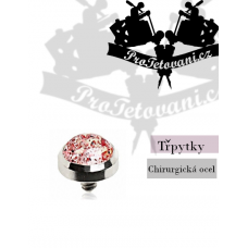 Jewelry for microdermal piercing Glitter red