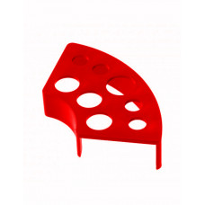 Plastic holder stand for cups red