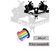 Acrylic plug Rainbow single flare