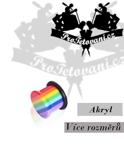 Plug akrylový Rainbow single flare