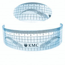 Gauge ruler to mark the symmetrical shape of the eyebrows