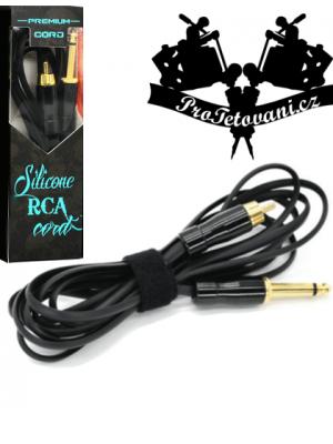 Premium tattoo RCA cable snake black