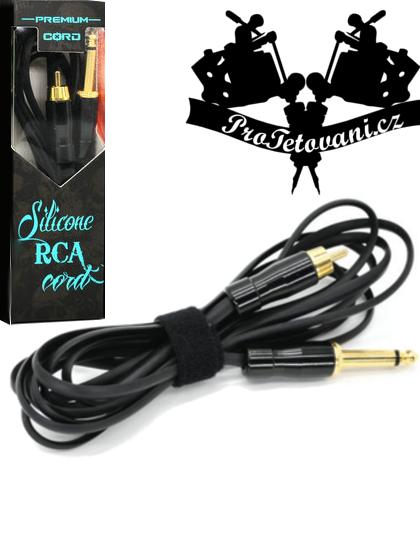 Prémiový tetovací RCA kabel snake black