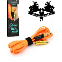 Premium tattoo RCA cable snake orange