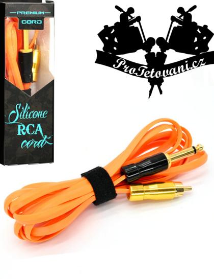 Prémiový tetovací RCA kabel snake orange