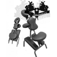 Portable tattoo and massage chair EASY BODY BLACK