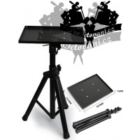 Portable storage table for tattoo equipment