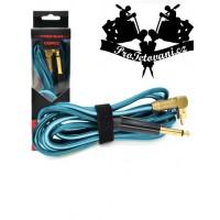 RCA clip cord Angled II Luminosity Light Blue