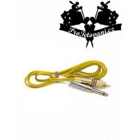 RCA clip cord silicone yellow