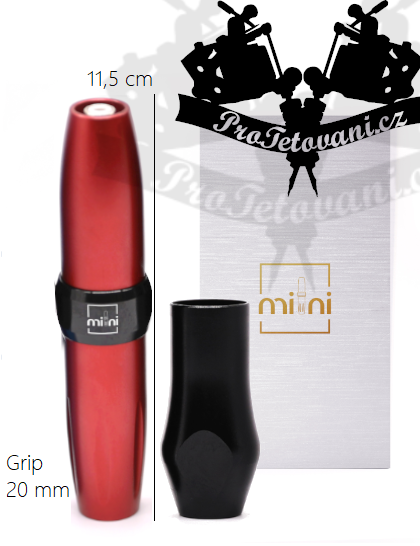 Rotační tetovací strojek AVA GT MINI PEN RED vhodný pro permanentní make-up