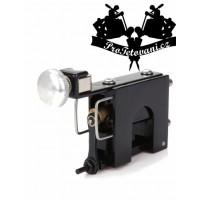 Black rotary tattoo machine and tattoo grip