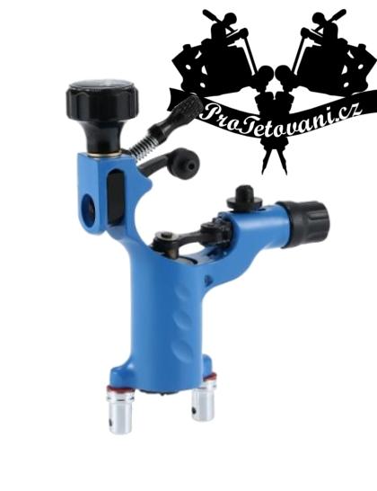 Rotační tetovací strojek Light Blue Fly a tetovací grip