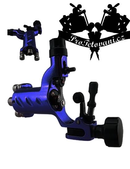 Rotační tetovací strojek Fly Dark Blue s RCA i clip cord konektorem a tetovací grip