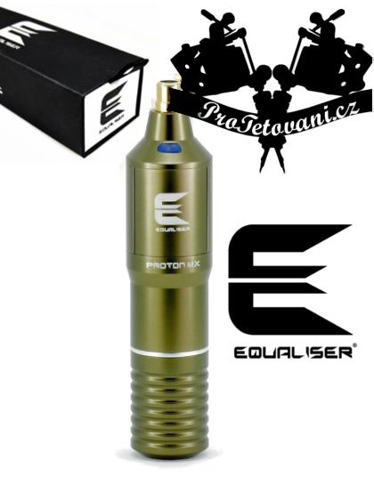 Rotační tetovací strojek EQUALISER PROTON MX ARMY GREEN