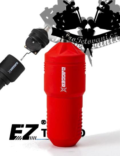 Rotační tetovací strojek EZ DAGGER X FAULHABER MERLOT RED